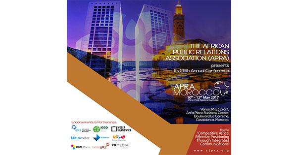 L'African Public Relations Association organise sa 29e conférence annuelle à Casablanca